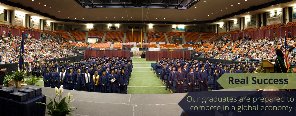 Real Success - Our graduates are prepared to compete in a global economy.