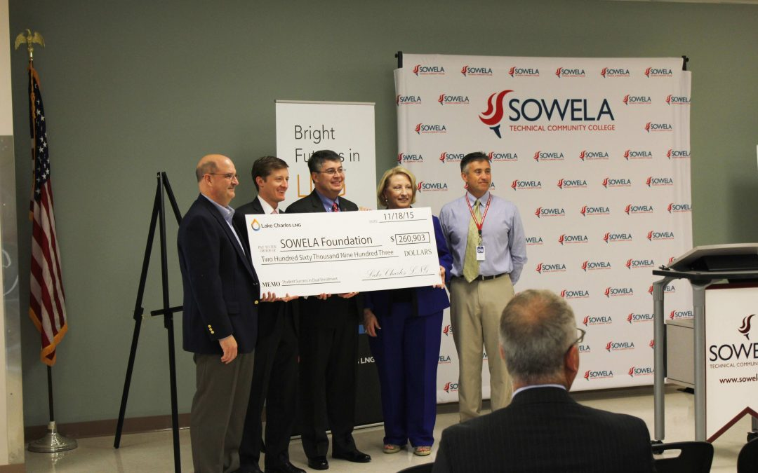 Lake Charles LNG Partners with SOWELA Technical Community College to support Dual Enrollment Programs