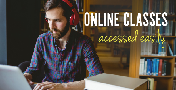 Online Classes accessed easily.